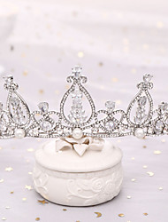 cheap -Alloy Tiaras / Headdress with Rhinestone / Imitation Pearl 1 Piece Wedding / Special Occasion Headpiece