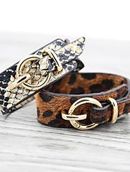 cheap -Women's Bracelet Bangles Friendship Bracelet Wrap Bracelet Crossover Animal Unique Design Vintage Holiday European Africa Leather Bracelet Jewelry Black / Brown For Party Prom Street Holiday Club