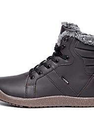cheap -Women's Boots Cowboy / Western Boots Flat Heel Peep Toe PU Booties / Ankle Boots Fall & Winter Black / Blue / Gray
