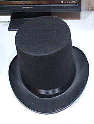 cheap -Black Magic Hat Hat Magic Hat Hat High Cap Jazz Hat Halloween Props
