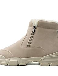 cheap -Men's Snow Boots PU Winter Classic Boots Black / Beige / Gray