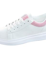 cheap -Women's Sneakers Flat Heel Peep Toe Patent Leather Fall & Winter White / Blue / Pink