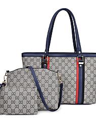 cheap -Women's Pattern / Print Synthetic / PU Bag Set Floral Print 3 Pcs Purse Set Black / Brown / Gold