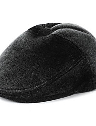 cheap -Men's Basic Polyester Floppy Hat-Solid Colored Winter Black