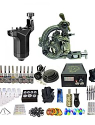 cheap -BaseKey Tattoo Machine Starter Kit - 2 pcs Tattoo Machines with 10 x 5 ml tattoo inks, Professional Aluminum Alloy LED power supply Case Not Included 19 W Rotary Tattoo Machine, Coil Tattoo Machine