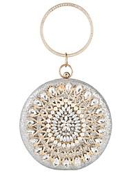 cheap -Women's Zipper Polyester Evening Bag Floral Print Black / Gold / Silver