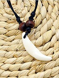 Недорогие -Муж. Ожерелья с подвесками Ожерелье с шармом Классический драгоценный Уникальный дизайн Этнический Хром Бежевый 50 cm Ожерелье Бижутерия 1шт Назначение Для улицы