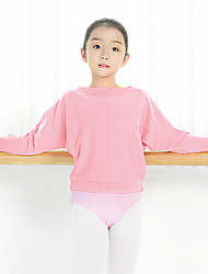 cheap -Ballet Tops Girls' Training / Performance Knit Ruching Long Sleeve Natural Top