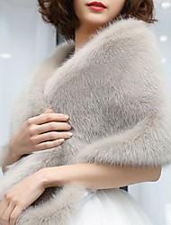 cheap -Sleeveless Faux Fur / Fox Fur Wedding / Party / Evening Women's Wrap / Women's Scarves With Fur Shawls / Scarves