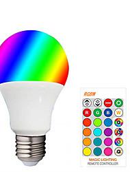 cheap -1pcs LED E27 RGBW LED Bulb 85-265V Dimmable Globe Bubble Lamp A50 Spotlight With 24 Key Controller