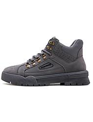 cheap -Men's Combat Boots PU Fall Classic Boots Black / Camel / Gray