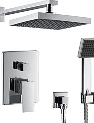 cheap -Shower Faucet Set - Rainfall Contemporary Wall Mounted Ceramic Valve Bath Shower Mixer Taps / Stainless Steel