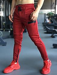abordables -Homme Pantalons de Jogging Pantalons de Course Running Pantalon de survêtement Pantalon de sport Cordon Coton Des sports Hiver Collants Joggings Bas Course / Running Fitness Jogging Entraînement de