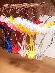 cheap -Women's Lace G-strings & Thongs Panties - Normal Low Waist Black White Blushing Pink One-Size