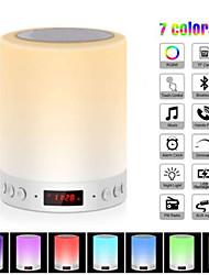 abordables -Veilleuse colorée avec haut-parleur bluetooth intelligent portable sans fil tactile contrôle table lampe de table tf carte couleur led luminaria