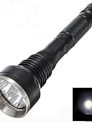 cheap -LED Flashlights / Torch 3000 lm LED 3 Emitters Camping / Hiking / Caving / Aluminum Alloy