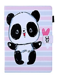 cheap -Case For Apple iPad Air / iPad 4/3/2 / iPad (2018) Card Holder / with Stand / Pattern Full Body Cases Panda PU Leather