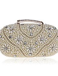 abordables -Femme Détail Cristal / Détail Perle Polyester / Alliage Pochette Formes Géométriques Beige