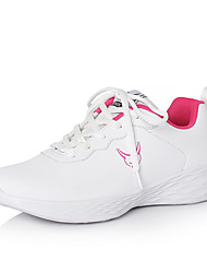 cheap -Women's Athletic Shoes Flat Heel Round Toe PU Casual / Preppy Running Shoes / Fitness & Cross Training Shoes Spring / Fall & Winter Black / White