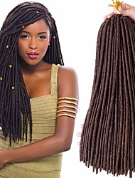 cheap -Faux Locs Dreadlocks Nu Locs Box Braids Synthetic Hair Braiding Hair 24 roots / pack / There are 24 roots per pack. Normally five to six pack are enough for a full head.