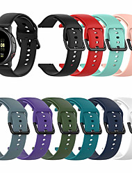 cheap -Sport Silicone Watch Band For Samsung Galaxy Watch Active 2 / Galaxy Watch 42mm / Gear S2 Classic / Gear Sport Replaceable Bracelet Wrist Strap Wristband