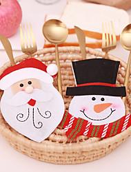 cheap -3pcs Christmas Home Decoration Cutlery Bag Fork Knife Tableware Santa Claus