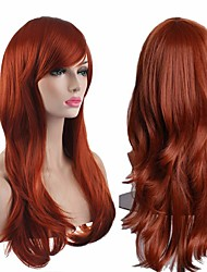 cheap -Synthetic Wig Curly Body Wave Halloween Asymmetrical Wig Long Brown Synthetic Hair 28 inch Women's Best Quality Brown
