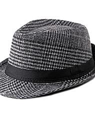 cheap -Men's Basic Polyester Bucket Hat-Striped Fall Light gray Brown Dark Gray