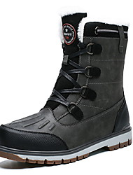 cheap -Men's Snow Boots PU Winter Boots Booties / Ankle Boots Brown / Gray