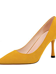 cheap -Women's Heels Stiletto Heel Pointed Toe Satin Minimalism Spring & Summer Black / Yellow / Red / Party & Evening