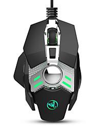 cheap -HXSJ J200 Wired USB Optical Gaming Mouse / Office Mouse Multi-colors Backlit 6400 dpi 4 Adjustable DPI Levels 7 pcs Keys 7 Programmable Keys