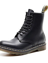 cheap -Men's Combat Boots Leather Fall Boots Booties / Ankle Boots Black / White / Green
