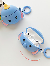 cheap -For airpods Pro cartoon cute elephant protective cover Bluetooth wireless headset set for air pods Pro cover With anti-lost lanyard