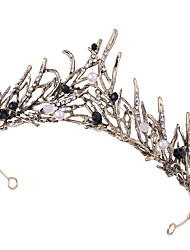 cheap -Alloy Tiaras / Headpiece with Crystals / Pearls / Metal 1 pc Wedding / Party / Evening Headpiece