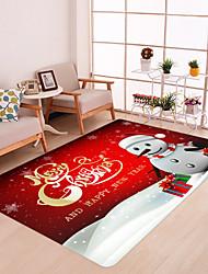Недорогие -красный новогодний снеговик принт современный нескользящий коврик для ванной не шерсть / пена памяти новинка ванная комната