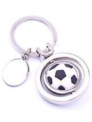 cheap -the soccer ball pattern metal silver keychain toys