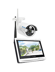 cheap -Techage Wireless 1CH CCTV System 1080P Home Security Camera System with 12 Inches Video Recorder 8x Playback, Mobile&PC Remote Night Vision Survilliance