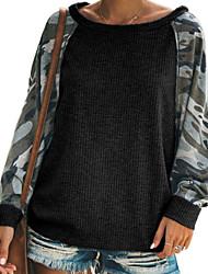 cheap -Women's Casual Sweatshirt - Camo / Camouflage Black S