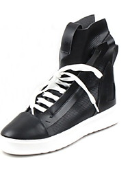 cheap -Men's Comfort Shoes Cowhide Fall & Winter Sneakers Black / White / Yellow