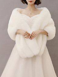 cheap -Sleeveless Capelets Faux Fur / Imitation Cashmere / Fox Fur Wedding / Party / Evening Women's Wrap With Solid / Fur
