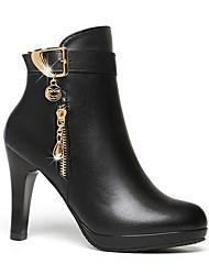 cheap -Women's Boots Stiletto Heel Pointed Toe PU Fall Black