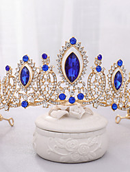 cheap -Alloy Tiaras / Headdress with Rhinestone 1 Piece Wedding / Special Occasion Headpiece