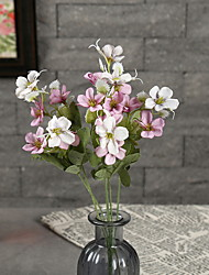 cheap -Fake Flowers Vintage Artificial Primrose Flowers Wedding Home Decoration,Pack of 1