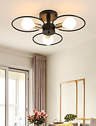 cheap -3-Light 65 cm Adorable Flush Mount Lights Metal Glass Electroplated Traditional / Classic / Nordic Style 110-120V / 220-240V / VDE / E26 / E27