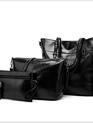 cheap -Women's Zipper PU Bag Set 4 Pieces Purse Set Black / Brown / Dark Brown