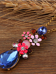 cheap -Women's Pendant Necklace Long Necklace Floral Pear Fashion Resin Glass Chrome Rainbow 76 cm Necklace Jewelry For Christmas Halloween Party Evening Street Gift