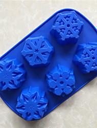 abordables -ustensiles de cuisson de Noël 1pcs 6 entreprises neige moule de gâteau de silicone de silicone résistant à haute température et facile à effacer