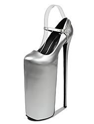 cheap -Women's Heels Stiletto Heel Round Toe PU Classic Spring &  Fall Black / Almond / White / Party & Evening