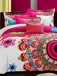 cheap -Duvet Cover Sets Floral / Botanical Polyester / Polyamide Printed & Jacquard 3 PieceBedding Sets