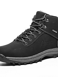 cheap -Men's Comfort Shoes Cowhide Winter Boots Booties / Ankle Boots Black / Brown / Light Brown